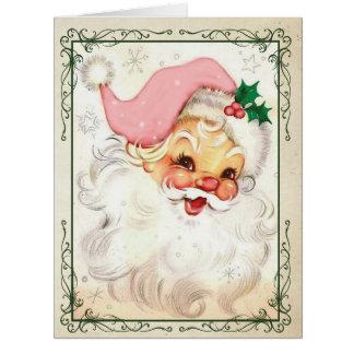 ジャンボピンクのKringleのクリスマスカード ビッググリーティーングカード