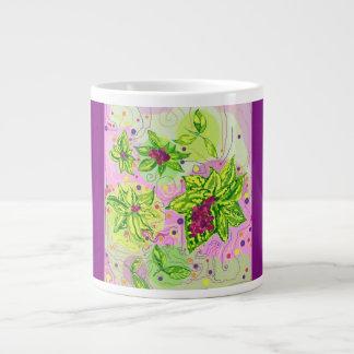 ジャンボマグの春2016のデザイン3の葉/果実 ジャンボコーヒーマグカップ