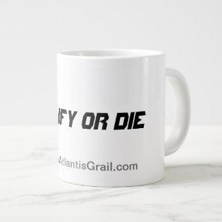 -ジャンボマグ修飾しますか、または死んで下さい ジャンボコーヒーマグカップ