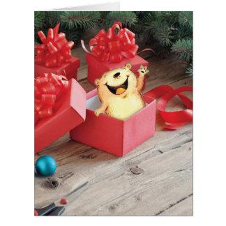 ジャンボ休日の曖昧なおなかのクリスマスカード ビッググリーティーングカード