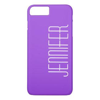 ジャンボ名前と名前入りなカラフルな紫色 iPhone 8 PLUS/7 PLUSケース