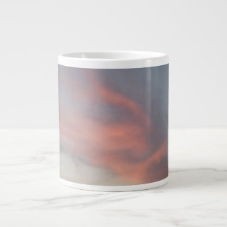 ジャンボ嵐の日没のマグ ジャンボコーヒーマグカップ