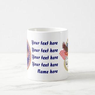 ジャンボ愛国心が強退役軍人2のデザイン コーヒーマグカップ