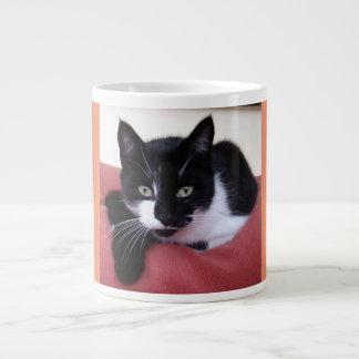 ジャンボ猫の写真のマグ ジャンボコーヒーマグカップ