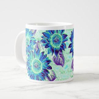 ジャンボ風変りなヒマワリ ジャンボコーヒーマグカップ