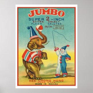 ジャンボ(ヴィンテージの中国のな爆竹) ポスター