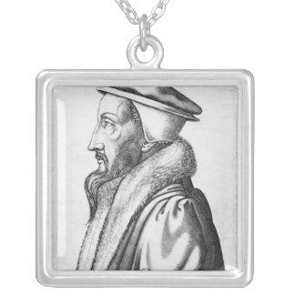 ジャン・カルヴァンのポートレートは53 1564年を老化させました シルバープレートネックレス