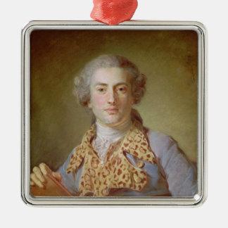 ジャン=ジョルジュ・ノヴェール1764年のポートレート メタルオーナメント
