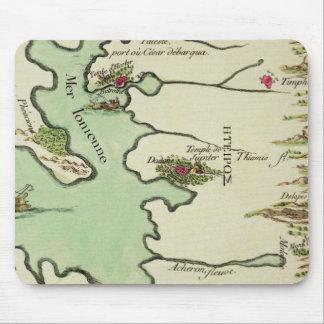 ジャン・ラシーヌ著「Andromache」のためのEpirusの地図、のために マウスパッド