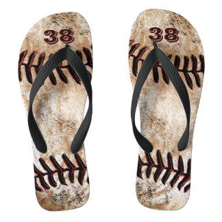ジャージーあなたの数を用いる汚れた野球のビーチサンダル ビーチサンダル
