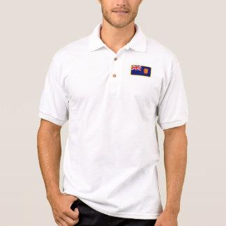 ジャージーのイギリスの旗のゴルフポロ ポロシャツ