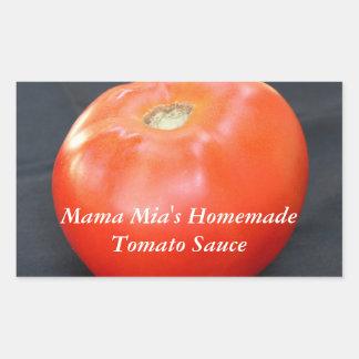 ジャージーのトマト4 長方形シール