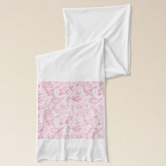 ジャージーのピンクの花のスカーフ スカーフ