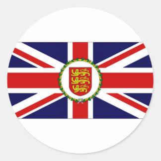 ジャージーの副知事旗 ラウンドシール