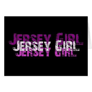 ジャージーの女の子のギフト及び挨拶 カード