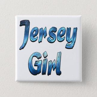 ジャージーの女の子 5.1CM 正方形バッジ