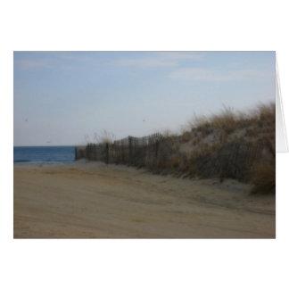 ジャージーの海岸*柔らかくされたビーチ カード