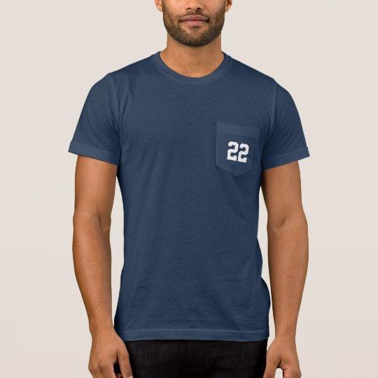 ジャージーカスタムな数はパパを遊ばします Tシャツ