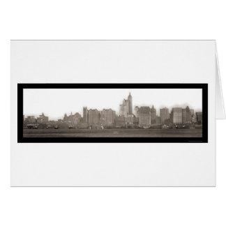ジャージーシティーの写真1910年からのニューヨーク カード
