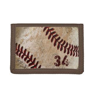 ジャージー数かあなたのモノグラムの野球の財布