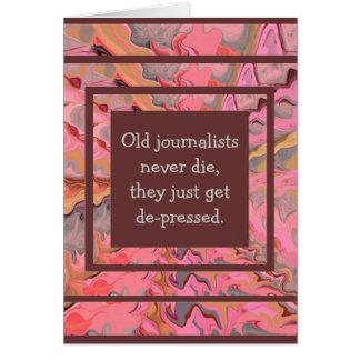 ジャーナリストのユーモア カード