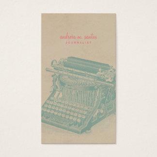 ジャーナリストのヴィンテージのタイプライターのカッコいいのミントのモダン 名刺