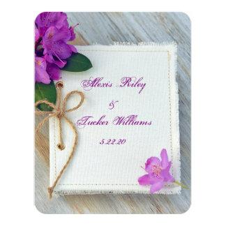ジャーナルカバー結婚式のピンクのシャクナゲ カード
