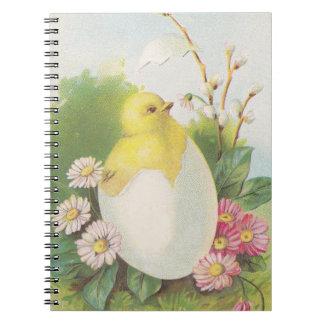 ジャーナル本のヴィンテージののぞき見の鶏のひよこのベビーのハッチ ノートブック