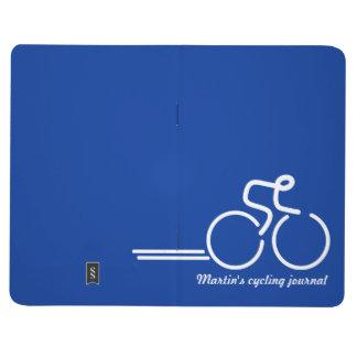 ジャーナル青い白を訓練するサイクリスト/スポーツ ポケットジャーナル