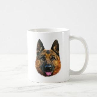 ジャーマン・シェパードのアルザスK-9犬 コーヒーマグカップ