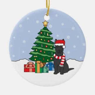ジャーマン・シェパードのクリスマスのオーナメント セラミックオーナメント