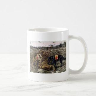 ジャーマン・シェパードのマグ コーヒーマグカップ