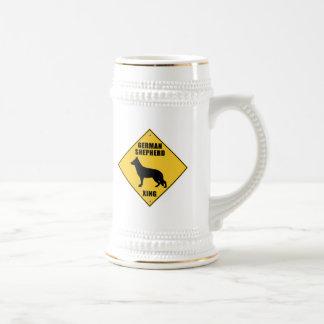 ジャーマン・シェパードの交差(XING)の印 ビールジョッキ
