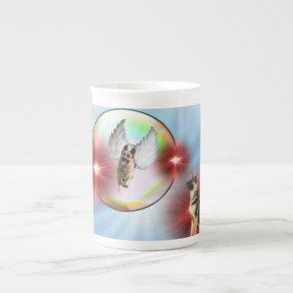 ジャーマン・シェパードの天使の飛行 ボーンチャイナカップ