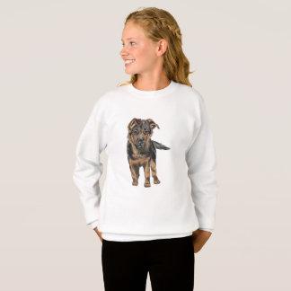 ジャーマン・シェパードの子犬のスケッチ スウェットシャツ