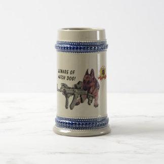ジャーマン・シェパードの番犬 ビールジョッキ