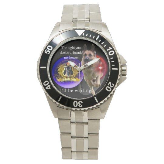 ジャーマン・シェパードの警告 腕時計