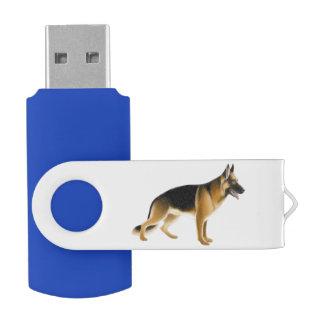 ジャーマン・シェパードの警察犬USB 32GBのフラッシュドライブ USBフラッシュドライブ
