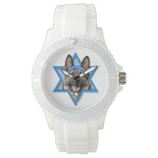 -ジャーマン・シェパードハヌカーのダビデの星 腕時計