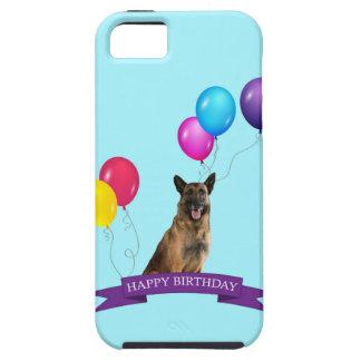 ジャーマン・シェパード犬のハッピーバースデー iPhone SE/5/5s ケース