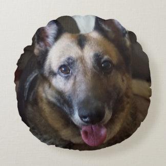 ジャーマン・シェパード犬の円形の枕 ラウンドクッション