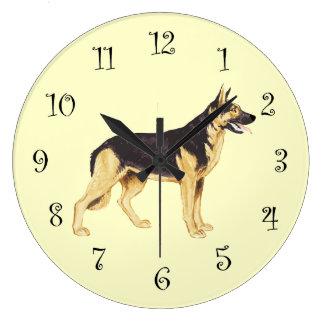 ジャーマン・シェパード犬の品種柱時計 ラージ壁時計