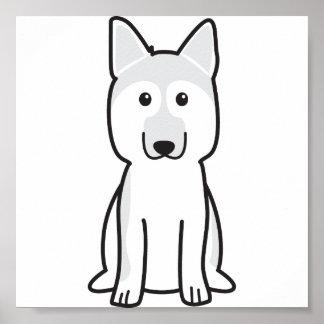 ジャーマン・シェパード犬の漫画 ポスター