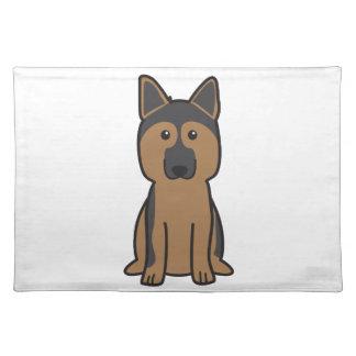 ジャーマン・シェパード犬の漫画 ランチョンマット