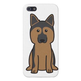 ジャーマン・シェパード犬の漫画 iPhone 5 ケース