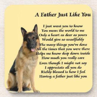 ジャーマン・シェパード犬の父の詩 コースター