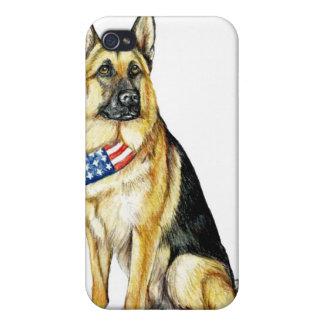 ジャーマン・シェパード犬の芸術のIPhoneの場合 iPhone 4/4S ケース
