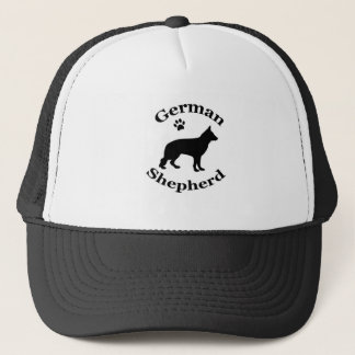ジャーマン・シェパード犬の黒のシルエットの帽子 キャップ