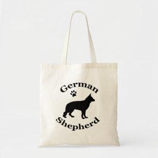 ジャーマン・シェパード犬の黒のシルエットの足のプリント トートバッグ