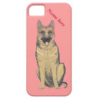 ジャーマン・シェパード犬のiPhoneのケースは名前を加えます iPhone SE/5/5s ケース
